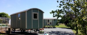 Shepherd Huts at Cwm Deri Vineyard