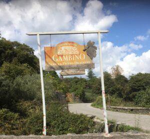 Beautiful Botanical Gardens Sicily and Wine Tastings. Entrance to Gambino Winery